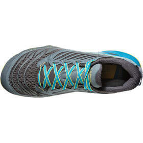 La Sportiva Akasha - Zapatillas running Hombre - gris/Turquesa